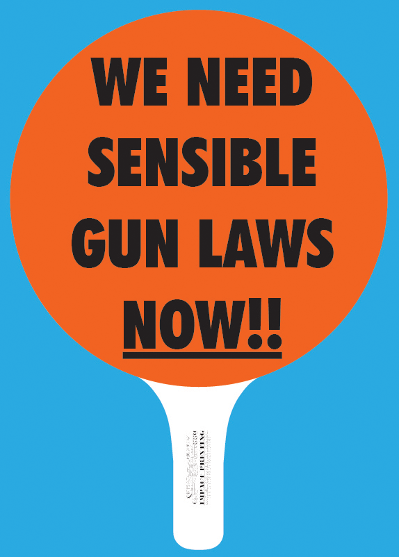 We Need Sensible Gun Laws Now Hand Held Sign for sale Impact Printing St. Paul MN.
