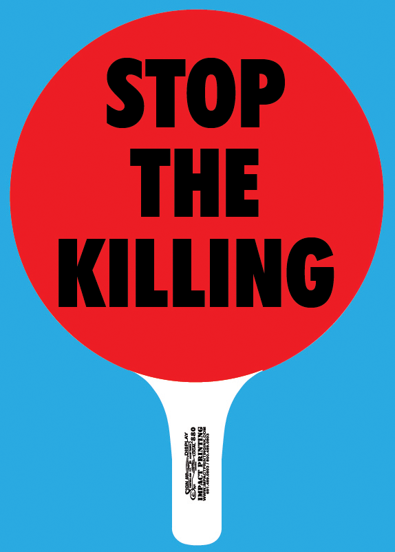 Stop The Killing rally sign available at Impact Printing St. Paul MN.
